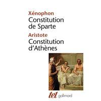 Constitution de Sparte - Constitution d'Athènes