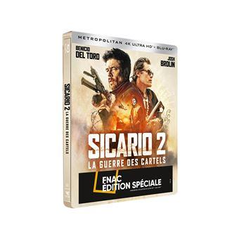 SicarioSicario 2 La guerre des cartels Steelbook Edition Fnac Blu-ray 4K Ultra HD