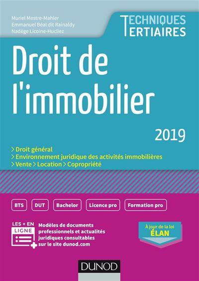 Droit de l'immobilier 2019 - 9782100792627 - 9,99 €