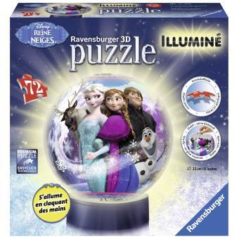 Puzzle 3D 72 Pièces Frozen La Reine des Neiges Ravensburger