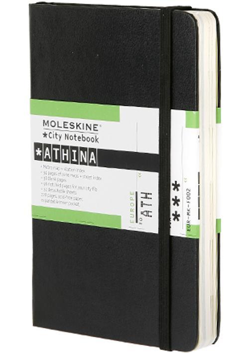 City Notebook ATHENES - Couverture rigide noire
