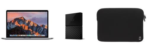 Apple MacBook Pro 15.4 Retina avec Touch Bar 256 Go SSD 16 Go RAM Intel Core i7 quadricur à 2.6 GHz Gris Sidéral + Disque Dur Externe WD My Passport pour Mac 1 To Noir + Housse MW Noire et Blanche pour MacBook Pro Retina 15