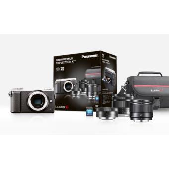 Panasonic Lumix DMC-GX80 Hybrid zilver + 12-32mm lens + 35-100mm lens + 25mm lens + SD kaart 8GB SDHC
