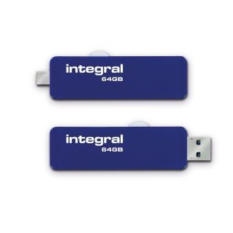Clé USB 3.0 Integral OTG Slide 64 Go