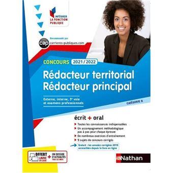 5fd8716e397 Concours Rédacteur territorial et rédacteur principal - Catégorie B  (Intégrer la fonction ...