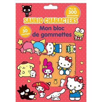 Sanrio Characters - Bloc 300 gommettes + coloriage