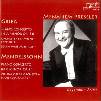 Menahem Pressler Spielt Grieg Und Mendelssohn