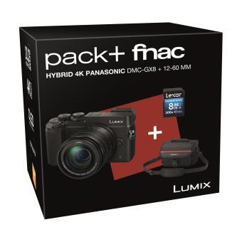 Pack Fnac Hybride Panasonic Lumix GX8 Body Black + Lens 12-60mm + SD 8 Gb + Draagtas