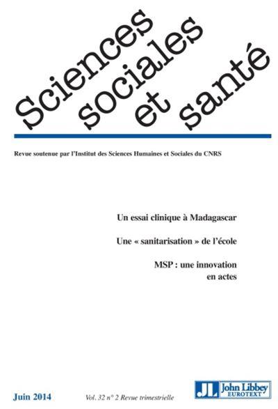 Revue sciences sociales et santé - Vol 32 - N°2 juin 2014