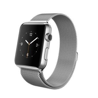 apple watch 42 mm acier blanc bracelet milanais montre connect e achat prix fnac. Black Bedroom Furniture Sets. Home Design Ideas