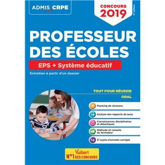 Concours Professeur des écoles, Entretien à partir d'un dossier, EPS et Système éducatif