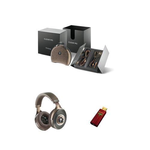 Un casque Focal Clear MG + un ampli/DAC casque Audioquest Dragonfly Rouge