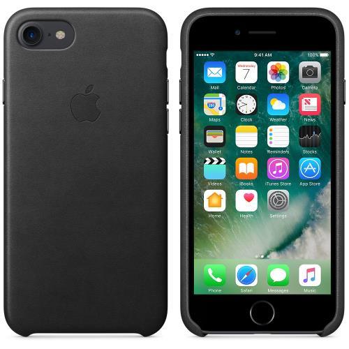 Coque en cuir Apple pour iPhone 7 Noir