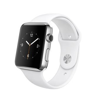 apple watch 42 mm acier blanc montre connect e achat. Black Bedroom Furniture Sets. Home Design Ideas