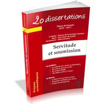 20 dissertations sur le thème de français 2016-2017 en prépa scientifique