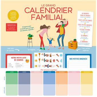 Grand Calendrier 2021 Le grand calendrier familial 2020 2021   broché   Marianne