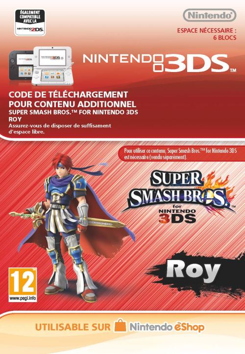 Code de téléchargement Super Smash Bros. Roy Nintendo 3DS