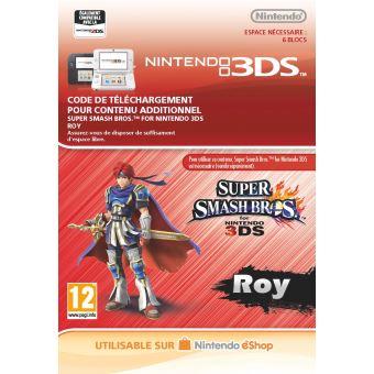 Code de téléchargement Super Smash Bros. Roy Nintendo 3DS