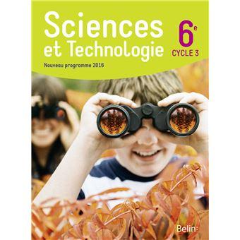 Sciences et technologie 6ème, Cycle 3