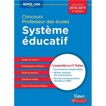 Concours professeur des écoles, système éducatif