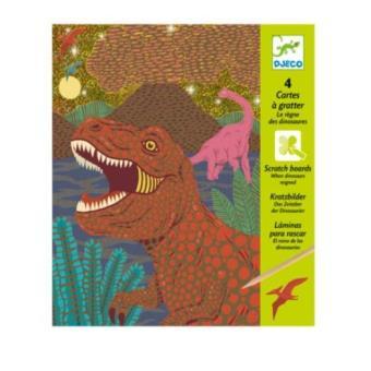 Cartes à gratter Le règne des dinosaures Djeco