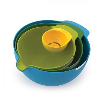 Joseph Joseph Set 4 Bowls + Egg Separator
