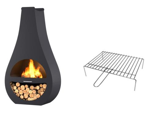 Pole DExtrieur Barbecue Barbecook Kuro SI  Grille Pour Pole D