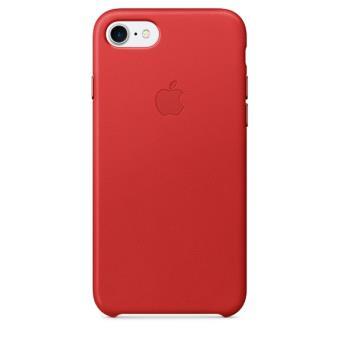 Coque en cuir Apple pour iPhone 7 Rouge