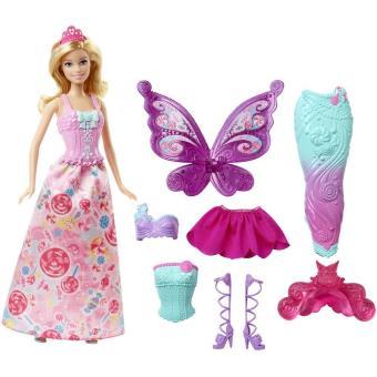 Poup e 3 en 1 barbie f erie poup e achat prix fnac - Barbie caleche ...