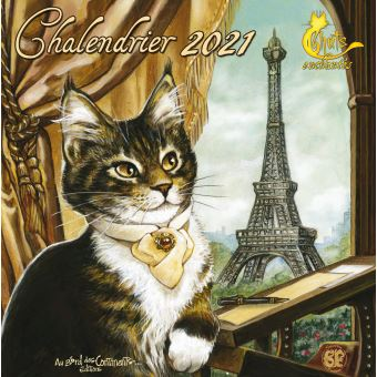 Calendrier 2021 Chat Calendrier 2021 Les Chats enchantés   broché   Séverine Pineaux