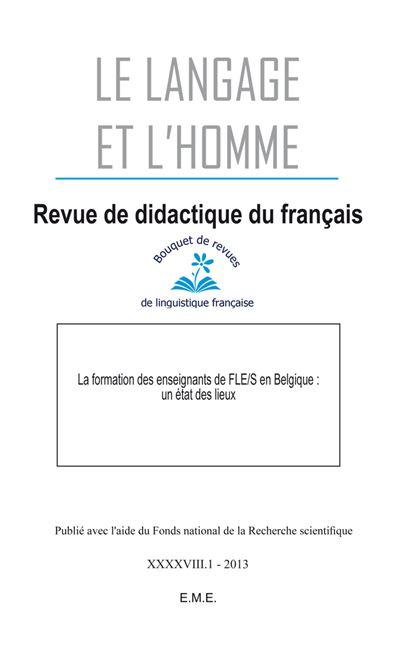 La formation des enseignants deFLE/S en Belgique : un état des lieux