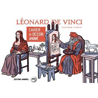 Cahier de dessin animé Léonard de Vinci