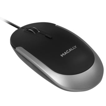 Souris filaire Macally Dynamouse pour Mac Gris