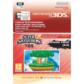 Code de téléchargement Super Smash Bros. Dream Land (64) Nintedo 3DS