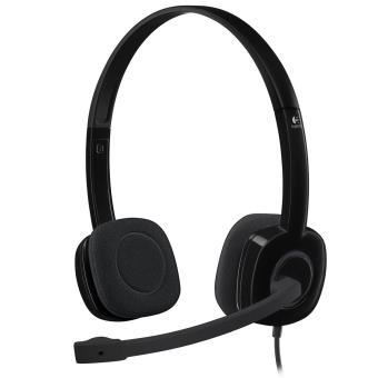 Casque stéréo Logitech Headset H151 Noir