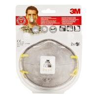 Lot de 2 masques anti odeurs 3M Valve charbon actif FFP1