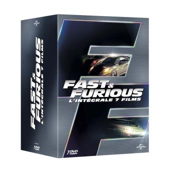 fast and furious fast furious 1 7 coffret dvd coffret dvd dvd zone 2 justin lin vin. Black Bedroom Furniture Sets. Home Design Ideas