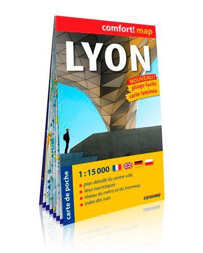 Lyon 1/15.000 (carte format de poche laminée)