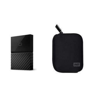 Disque dur externe WD My Passport 4 To Noir pour MAC + Housse pour Disque Dur portable My Passport Noire