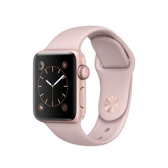 Apple Watch Series 1 38 mm Aluminium Rosé goud met Sportband Roze