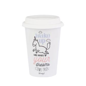 Mug à emporter Mr. Wonderful Wake up and make your dreams come true