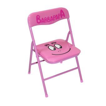 Chaise pliante enfant barbapapa rose tropico achat - Chaise enfant pliante ...