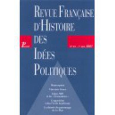 Française d'histoire des idées politiques