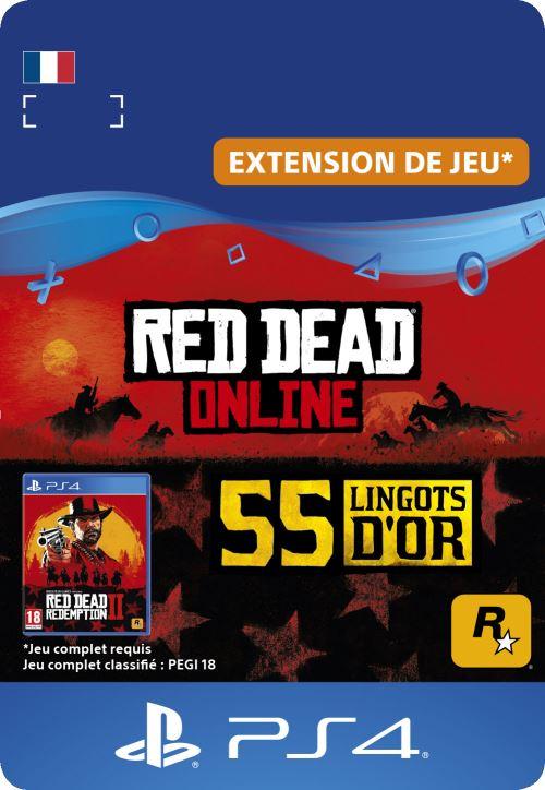 Code de téléchargement Red Dead Online 55 Lingots d?Or PS4
