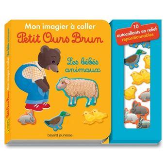 Petit Ours BrunMon imagier à coller Petit Ours Brun - Les bébés animaux