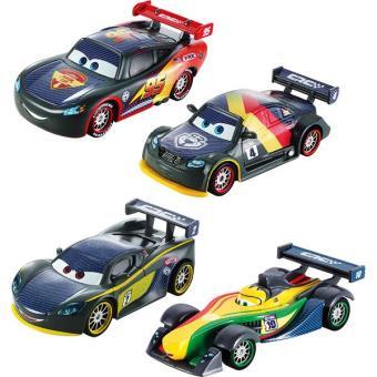 coffret de 4 voitures cars carbon racers speed 4 v hicules voiture. Black Bedroom Furniture Sets. Home Design Ideas