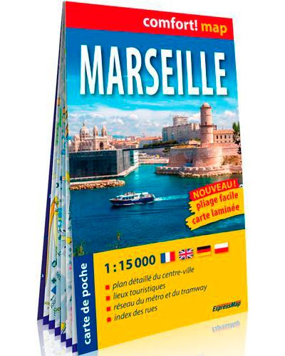 Marseille 1/15.000 (carte format de poche laminée)