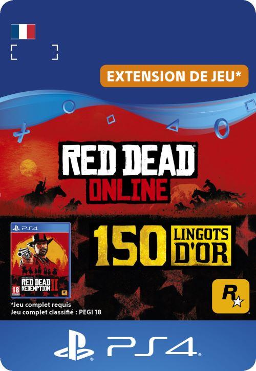Code de téléchargement Red Dead Online 150 Lingots d?Or PS4
