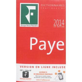 Dictionnaire de la paye