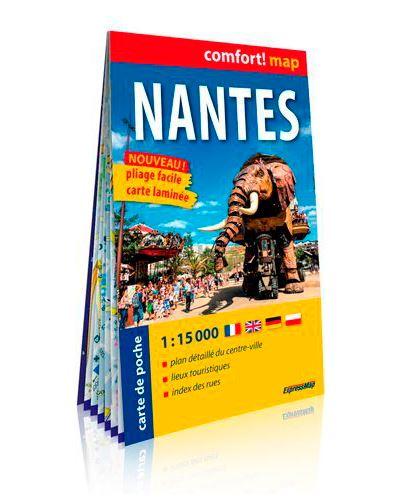 Nantes 1/15.000 (carte format de poche laminée)
